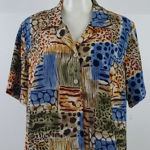 Alfred Dunner Top size 18W Brown Animal Print